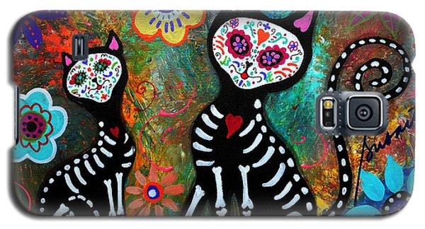My Cats Dia De  Los Muertos Galaxy S5 Case by Pristine Cartera Turkus