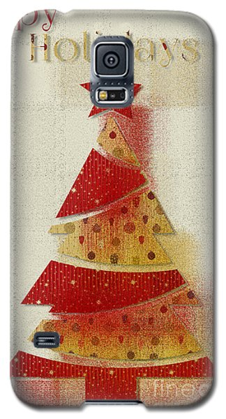 Galaxy S5 Case featuring the digital art My Christmas Tree 02 - Happy Holidays by Aimelle