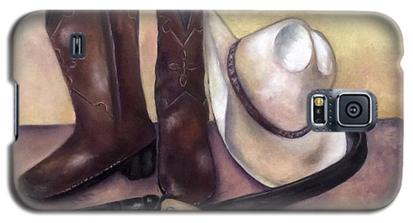 Galaxy S5 Case featuring the painting My Cowboy's Home by Annamarie Sidella-Felts