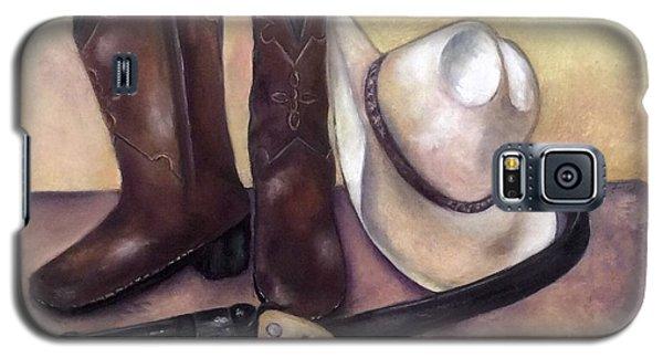 My Cowboy's Home Galaxy S5 Case by Annamarie Sidella-Felts