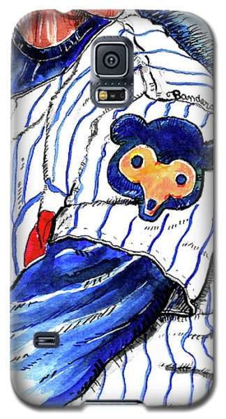 Galaxy S5 Case featuring the painting My Favorite Chicago Cub by Terry Banderas