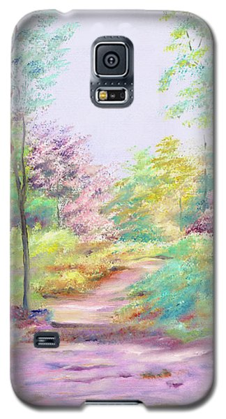 Galaxy S5 Case featuring the painting My Favourite Place by Elizabeth Lock