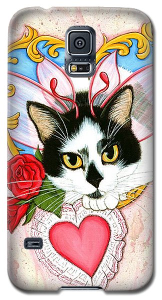 My Feline Valentine Tuxedo Cat Galaxy S5 Case