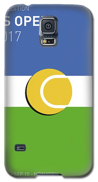 Galaxy S5 Case featuring the digital art My Grand Slam 04 Us Open 2017 Minimal Poster by Chungkong Art