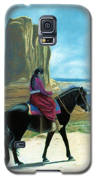 Galaxy S5 Case featuring the pastel My Grandfather's Pony by Jan Amiss