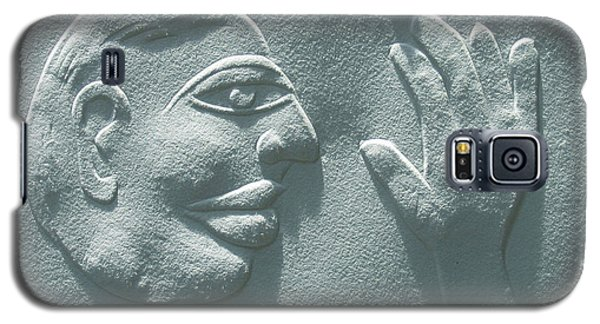 Galaxy S5 Case featuring the relief My Hand by Suhas Tavkar
