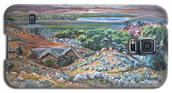 Galaxy S5 Case featuring the painting My Home Looking West by Dawn Senior-Trask
