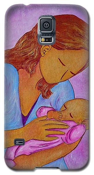 Galaxy S5 Case featuring the painting My Little Sweetness by Gioia Albano