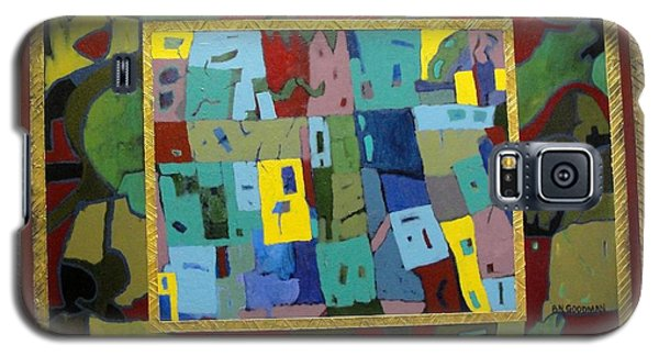Galaxy S5 Case featuring the painting My Little Town by Bernard Goodman