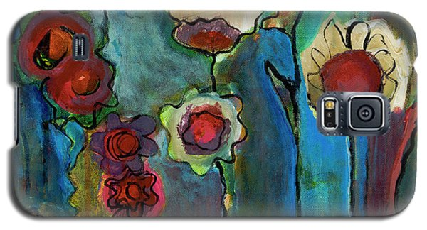 Galaxy S5 Case featuring the painting My Mother's Garden by Susan Stone