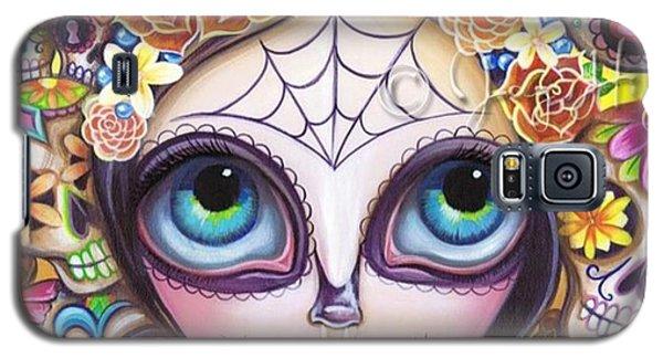 Fantasy Galaxy S5 Case - My Original sugar Skull Princess by Jaz Higgins