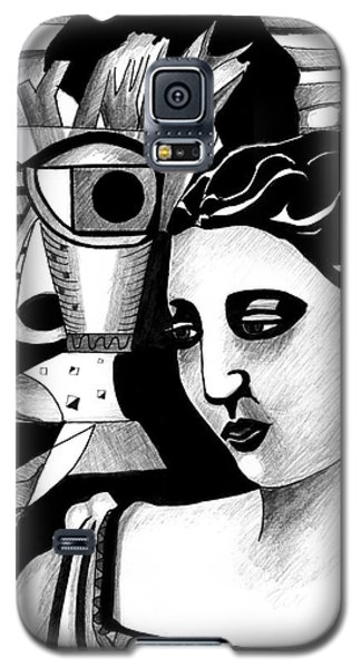 My Outing With A Young Woman By Picasso Galaxy S5 Case