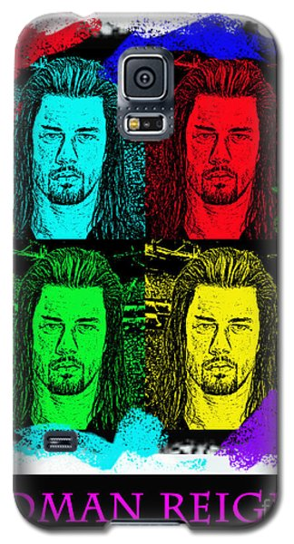 My Prediction For The World Heavyweight Championship Winner Of Wrestlemania 2015 Roman Reigns Galaxy S5 Case by Jim Fitzpatrick