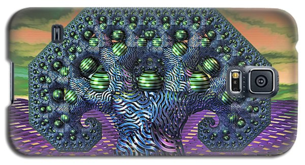 Galaxy S5 Case featuring the digital art My Pythagoras Tree by Manny Lorenzo