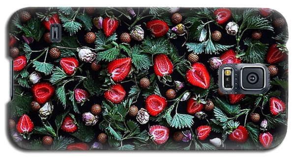 My Real Strawberry Patch Galaxy S5 Case