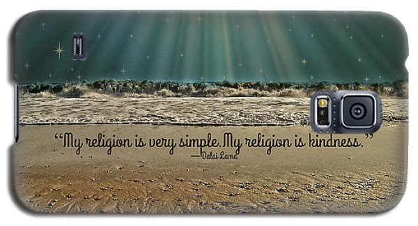 Galaxy S5 Case featuring the mixed media My Religion by Trish Tritz