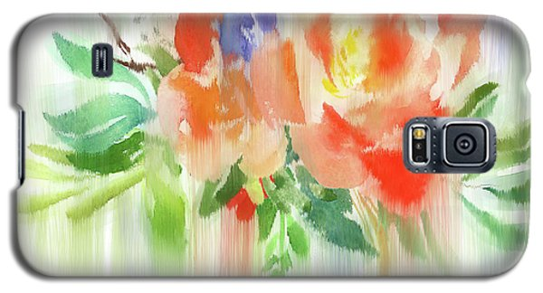 Galaxy S5 Case featuring the painting My Roses Gently Weep by Colleen Taylor
