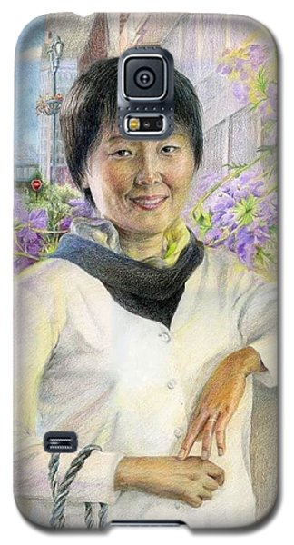 Galaxy S5 Case featuring the painting My Second Home Town by Ping Yan
