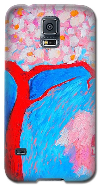 Galaxy S5 Case featuring the painting My Spring by Ana Maria Edulescu