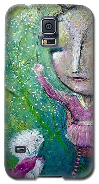 Galaxy S5 Case featuring the painting My Super Powers  by Eleatta Diver