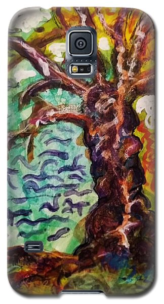 Galaxy S5 Case featuring the mixed media My Treefriend by Mimulux patricia no No