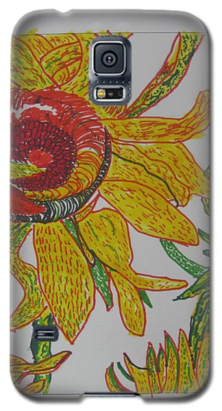 My Version Of A Van Gogh Sunflower Galaxy S5 Case by AJ Brown
