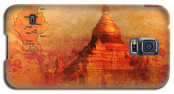 Galaxy S5 Case featuring the digital art Myanmar Temple Kutho Daw Pagoda by John Wills