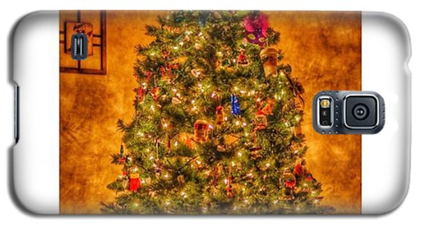 #myhouse #myhome #tree #christmas Galaxy S5 Case by David Haskett