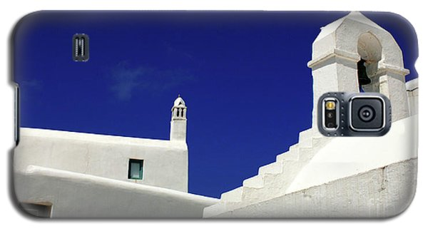 Galaxy S5 Case featuring the photograph Mykonos Greece Architectual Line 5 by Bob Christopher
