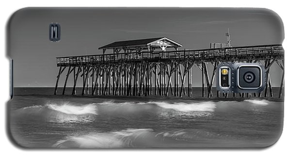 Myrtle Beach Pier Panorama In Black And White Galaxy S5 Case