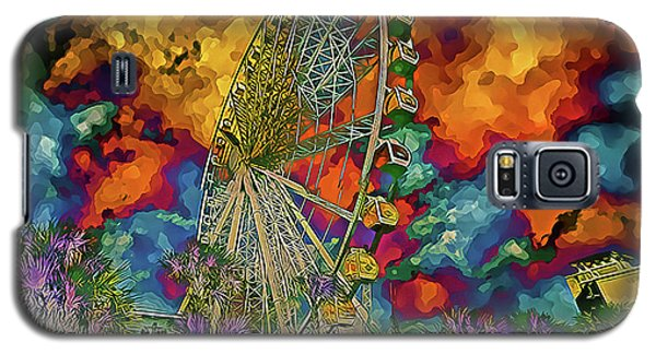 Galaxy S5 Case featuring the photograph Myrtle Beach Skywheel Abstract by Bill Barber