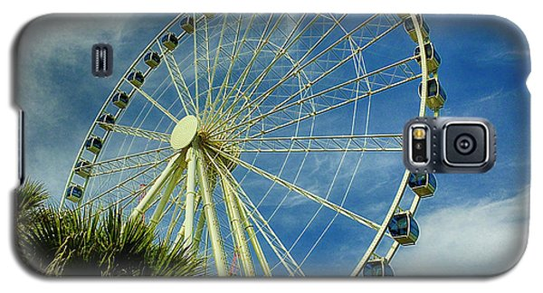 Galaxy S5 Case featuring the photograph Myrtle Beach Skywheel by Bill Barber
