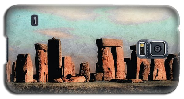 Galaxy S5 Case featuring the photograph Mysterious Stonehenge by Jim Hill