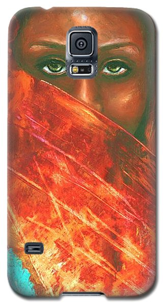 Galaxy S5 Case featuring the painting Mystery Behind The Veil by Alga Washington