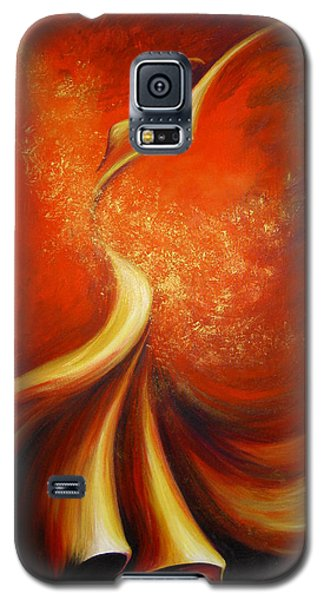 Galaxy S5 Case featuring the painting Mystery Dance by Dina Dargo