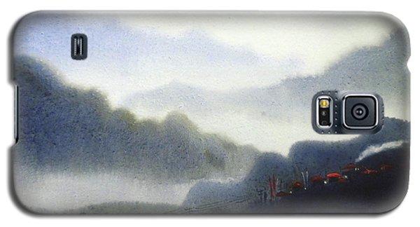 Galaxy S5 Case featuring the painting Mystery Himalaya  by Samiran Sarkar