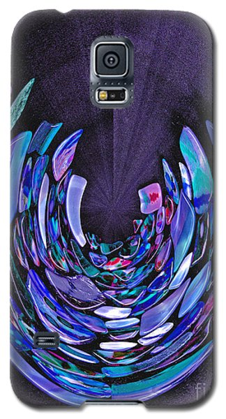 Galaxy S5 Case featuring the photograph Mystery In Blue And Purple by Nareeta Martin