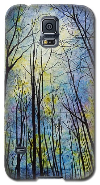 Galaxy S5 Case featuring the painting Mystic Forest by Hailey E Herrera
