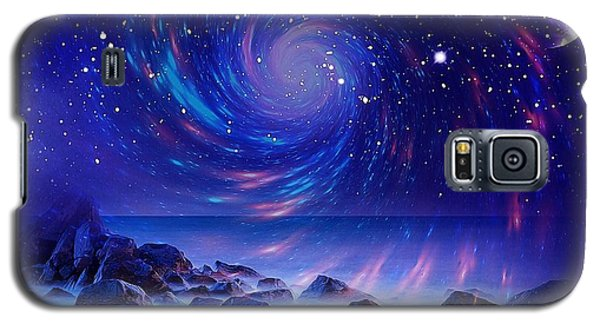 Galaxy S5 Case featuring the mixed media Mystic Lights by Gabriella Weninger - David