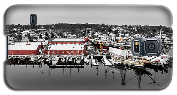 Mystic Seaport In Winter Galaxy S5 Case