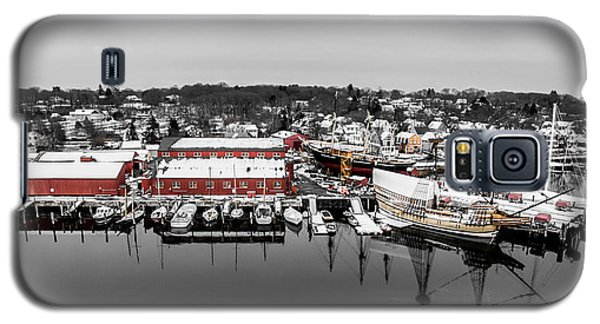 Galaxy S5 Case featuring the photograph Mystic Seaport In Winter by Petr Hejl