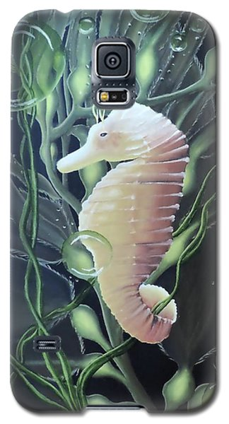 Galaxy S5 Case featuring the painting Mystical Sea Horse by Dianna Lewis