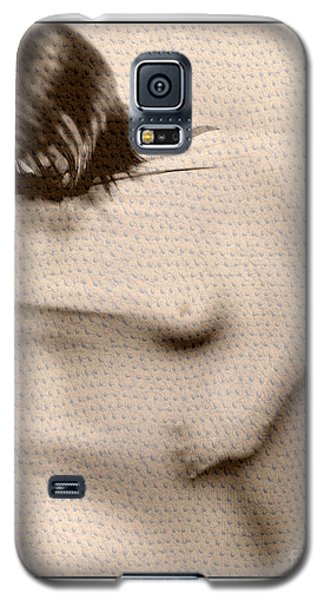 Galaxy S5 Case featuring the photograph Naked Girl Behind Stretchy Fabric by Michael Edwards