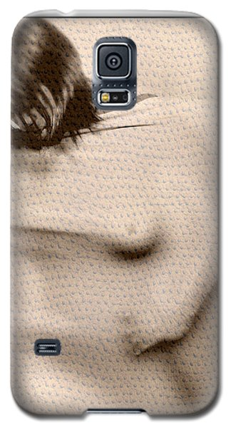 Naked Girl Behind Stretchy Fabric Galaxy S5 Case by Michael Edwards