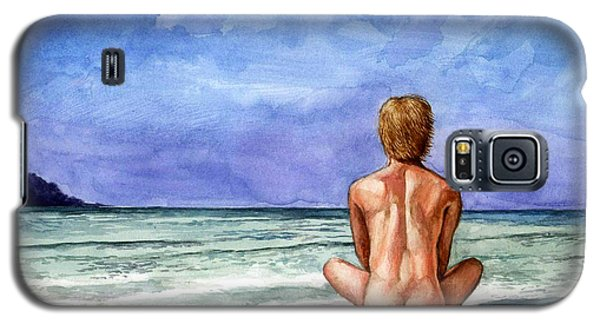 Naked Male Sleepy Ocean Galaxy S5 Case