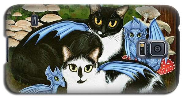 Nami And Rookia's Dragons - Tuxedo Cats Galaxy S5 Case