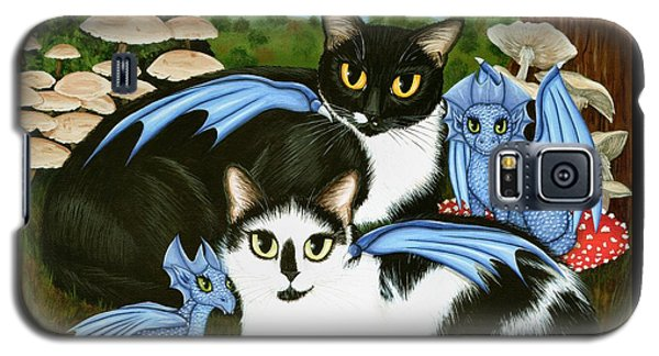 Nami And Rookia's Dragons - Tuxedo Cats Galaxy S5 Case