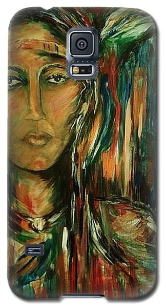 Galaxy S5 Case featuring the painting Nancy Ward Beloved Woman Nanye by Dawn Fisher