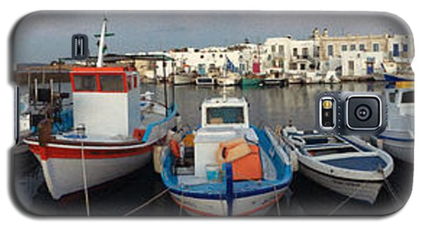 Galaxy S5 Case featuring the photograph Naoussa Village Island Greece by Colette V Hera  Guggenheim