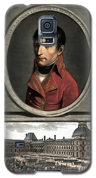 Galaxy S5 Case featuring the painting Napoleon Bonaparte And Troop Review by War Is Hell Store